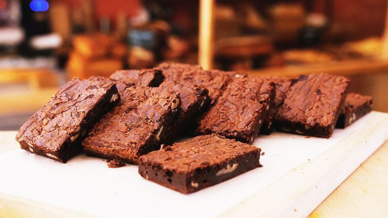 Photo des brownies de la boulangerie bio La Source à Forcalquier 04300